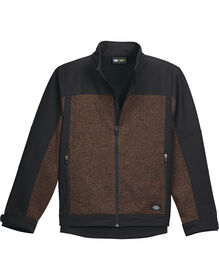 Performance Full Zip Softshell Jacket - BROWN HEATHER (NH)