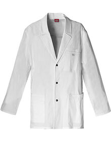 "Men's Gen Flex 31"" Snap Front Lab Coat - DICKIES WHITE-LICENSEE (DWH)"