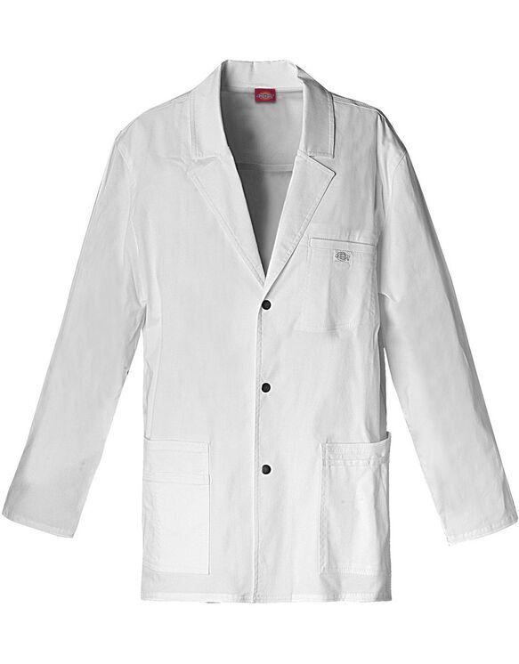 "Men's Gen Flex 31"" Snap Front Lab Coat - DICKIES WHITE-LICENSEE (DWH)"