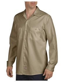 Long Sleeve Industrial Cotton Work Shirt - KHAKI (KH)