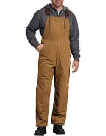 Sanded Duck Insulated Bib Overall - RINSED BROWN DUCK (RBD)