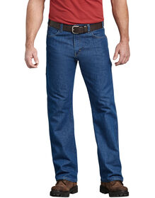 FLEX Relaxed Fit Straight Leg 5-Pocket Carpenter Tough Max™ Denim Jean - STONEWASHED INDIGO BLUE (SNB)
