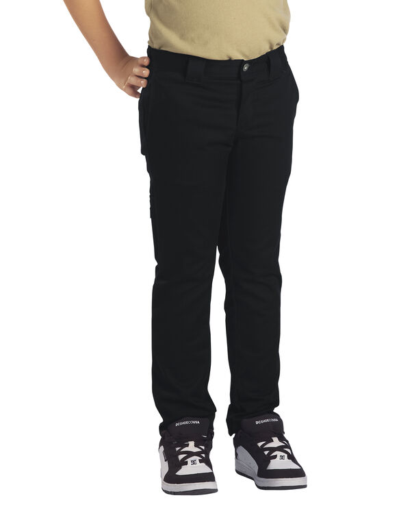 Boys' Flex Skinny Fit Straight Leg Pant, 8-20 - BLACK (BK)