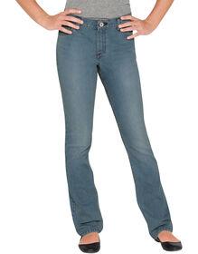 Girls' Slim Fit Strech Boot Cut Denim Jean, 4-6X - BLEACH STONEWASH (BST)