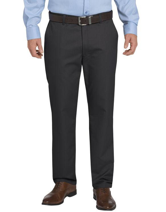 Dickies KHAKI Regular Fit Tapered Leg Flat Front Sorona® Flex Pant - RINSED BLACK (RBK)