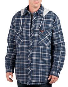 Quilted Shirt with Detachable Hood - CANADA PLAID STONEWASH/MIDNIGH (CA4)
