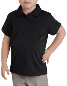 Girls' Performance Short Sleeve Polo, 4-6X - BLACK (BK)