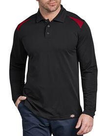 Long Sleeve Performance Polo - BLACK/ENGLISH RED (BKER)