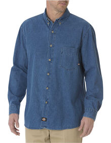 Long Sleeve Button-Down Denim Shirt - STONEWASHED INDIGO BLUE (SNB)
