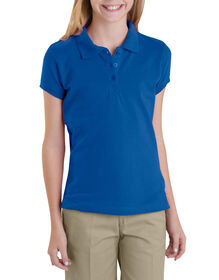 Girls' Short Sleeve Pique Polo Shirt,  7-20 - ROYAL BLUE (RB)