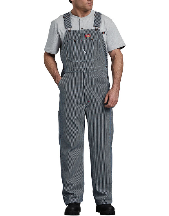 Featuring hickory-toned stripes, these reinforced bib overalls deliver old fashioned charm. The adjustable shoulder straps and button side closures let you customize and secure the fit. True Diamond back construction adds even more durability to Key Men's 47 /5(41).
