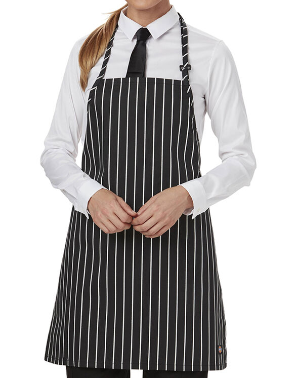 Unisex Bib Apron with Adjustable Strap - CHALK STRIPE - LICENSEE (CKSP)