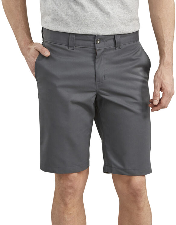 """Dickies '67 11"""" Slim Fit Twill Work Short - CHARCOAL (CH)"""