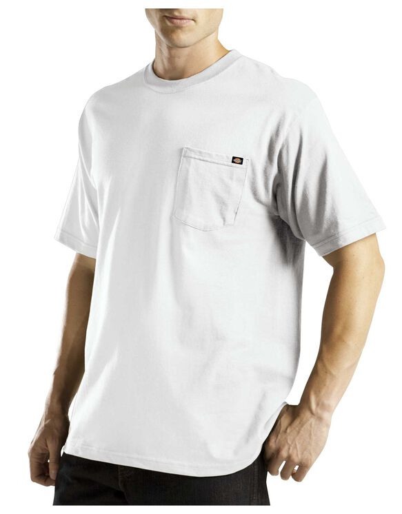 Short Sleeve Pocket Tee with Wicking - WHITE (WH)