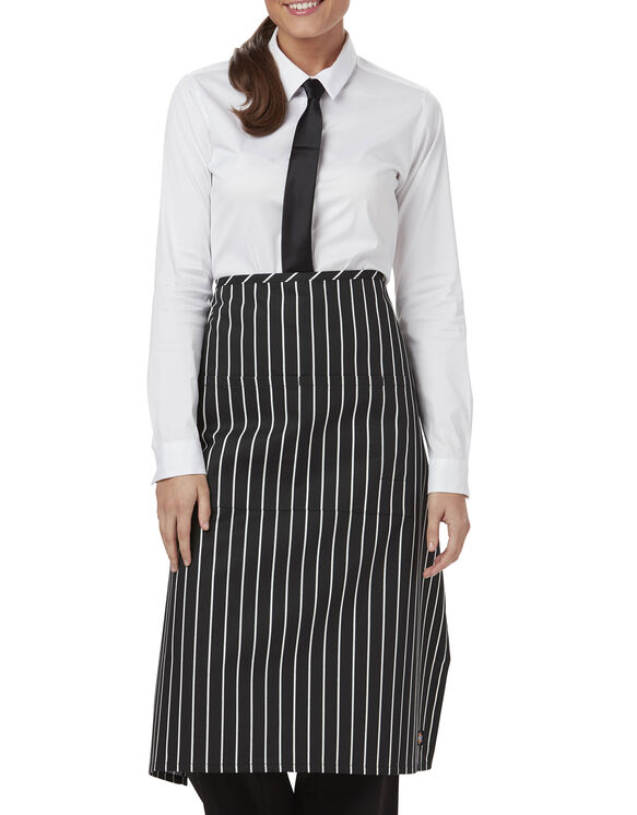 Unisex Full Bistro Waist Apron with 2 Pockets - CHALK STRIPE - LICENSEE (CKSP)