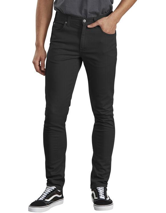 Dickies X-Series Slim Fit Skinny Leg 5-Pocket Flex Pant - RINSED BLACK (RBK)