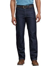 Tough Max™ Relaxed Fit Straight Leg 5-Pocket Carpenter Denim Jean - RINSED INDIGO BLUE (RNB)