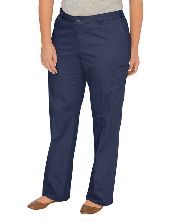 Model Dickies Womens Relaxed Fit Straight Leg Cargo Pants FP778