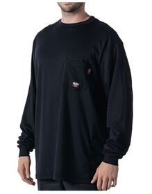 Walls® Flame Resistant Long Sleeve Crew Tee - NAVY (NA9)
