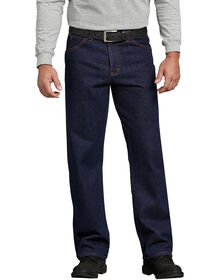 Regular Straight Fit 5-Pocket Denim Jean - RINSED INDIGO BLUE (RNB)