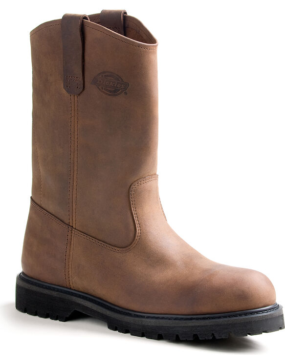 Men's Rogue Steel Toe Wellington Work Boots - CRAZY HORSE BROWN-LICENSEE (FCB)