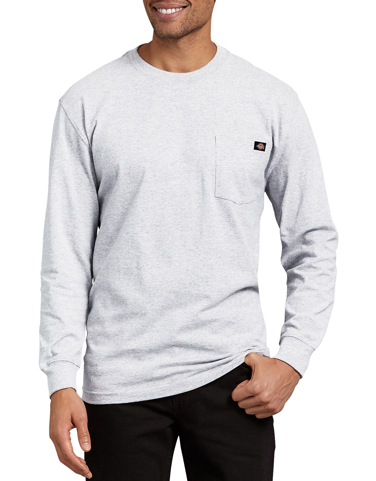 Long sleeve t shirt for men dickies for Mens long sleeved t shirts