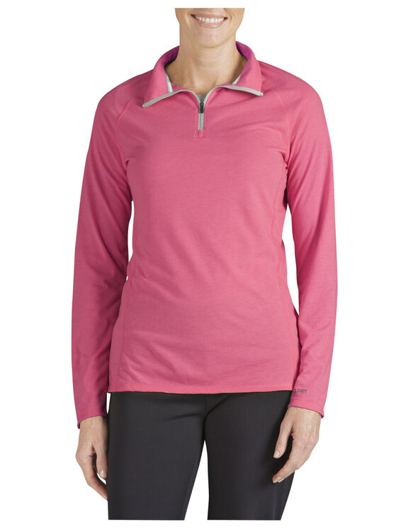 Women's Performance Quarter Zip drirelease® Pullover - ROUGE RED (OD)