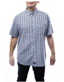 Everyday Men's Short Sleeve Plaid Shirt - BLACK (BK)