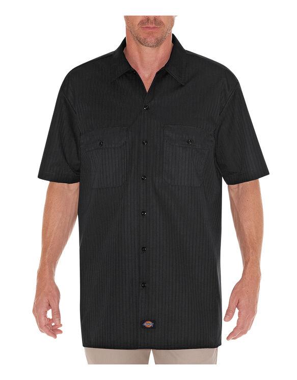 Short Sleeve Twill Stripe Work Shirt
