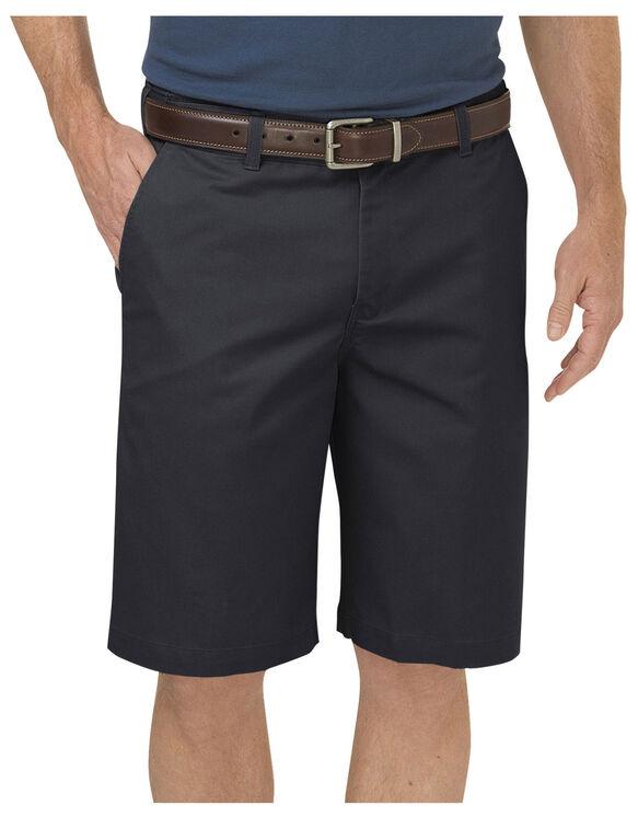 """Dickies KHAKI 10"""" Regular Fit Flat Front Short - RINSED BLACK (RBK)"""