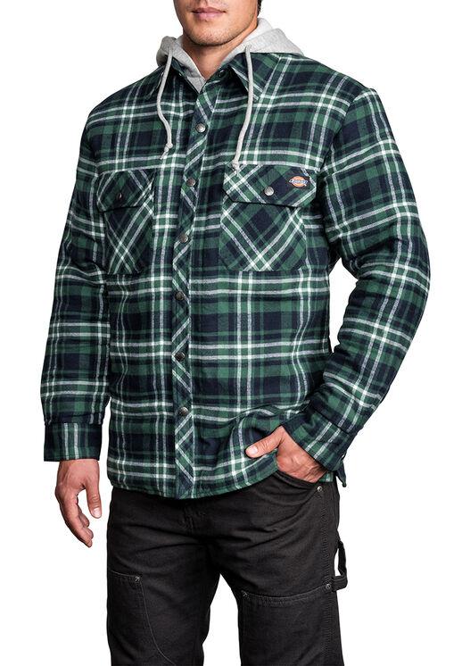 Veste molletonnée en faux piqué - D4126 N PLAID 006 PINE NEEDLE/ (CF5)