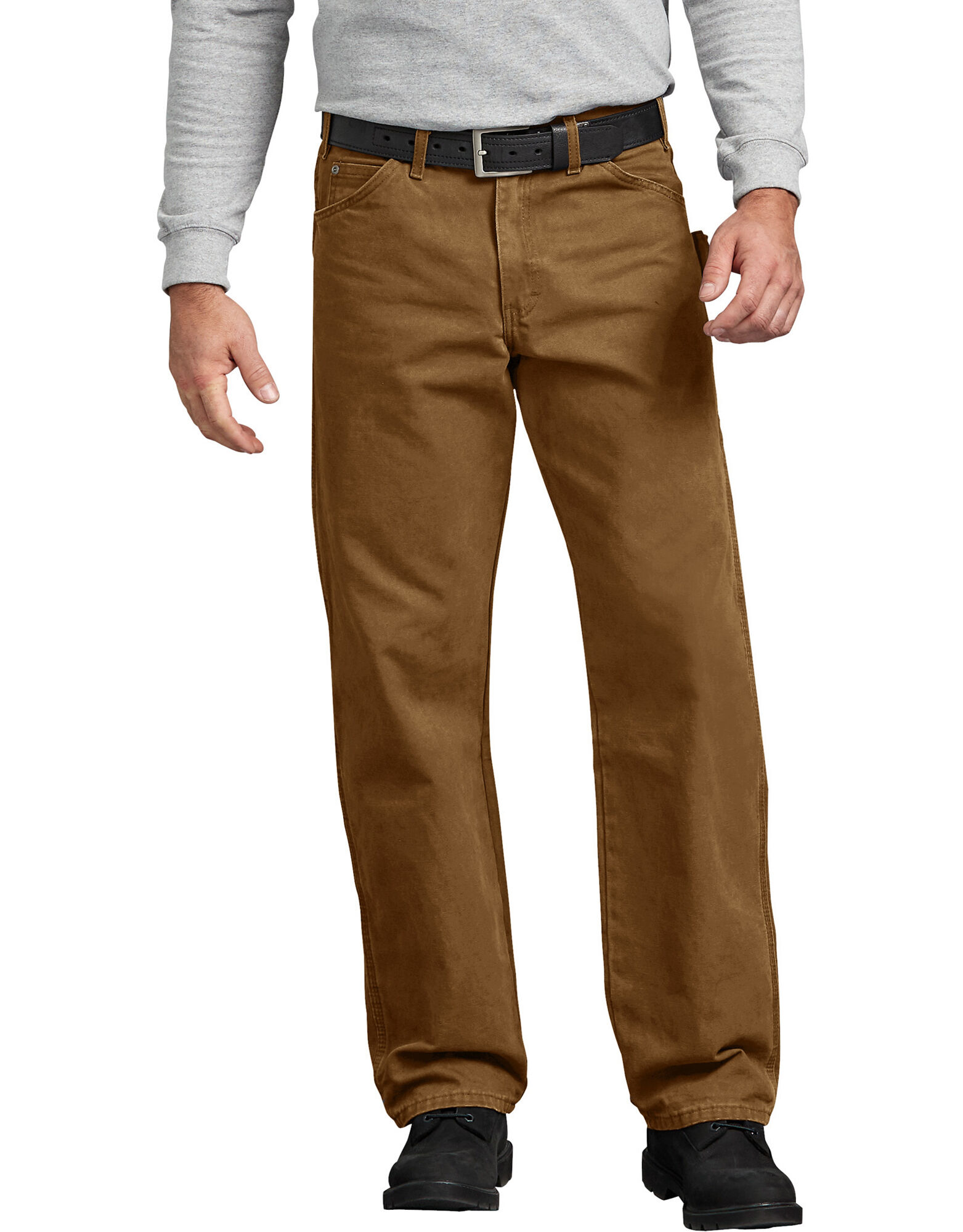 Jeans menuisier jambe droite et coupe d contract e en coutil bross dickies - Hematome jambe suite coup ...