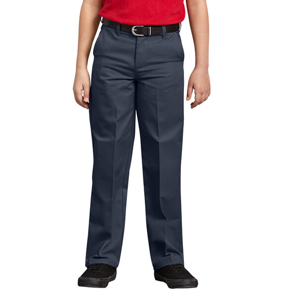 Boys' Classic Fit Straight Leg Flat Front Pant, 4-7 - DARK NAVY (DN)