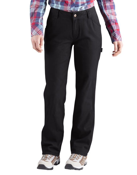 Women's Relaxed Fit Carpenter Duck Jean - RINSED BLACK (RBK)