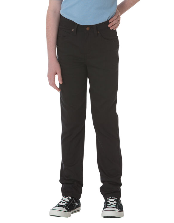 Boys' Flex Slim Fit Skinny Leg 5-Pocket Pant, 8-20 - BLACK (BK)