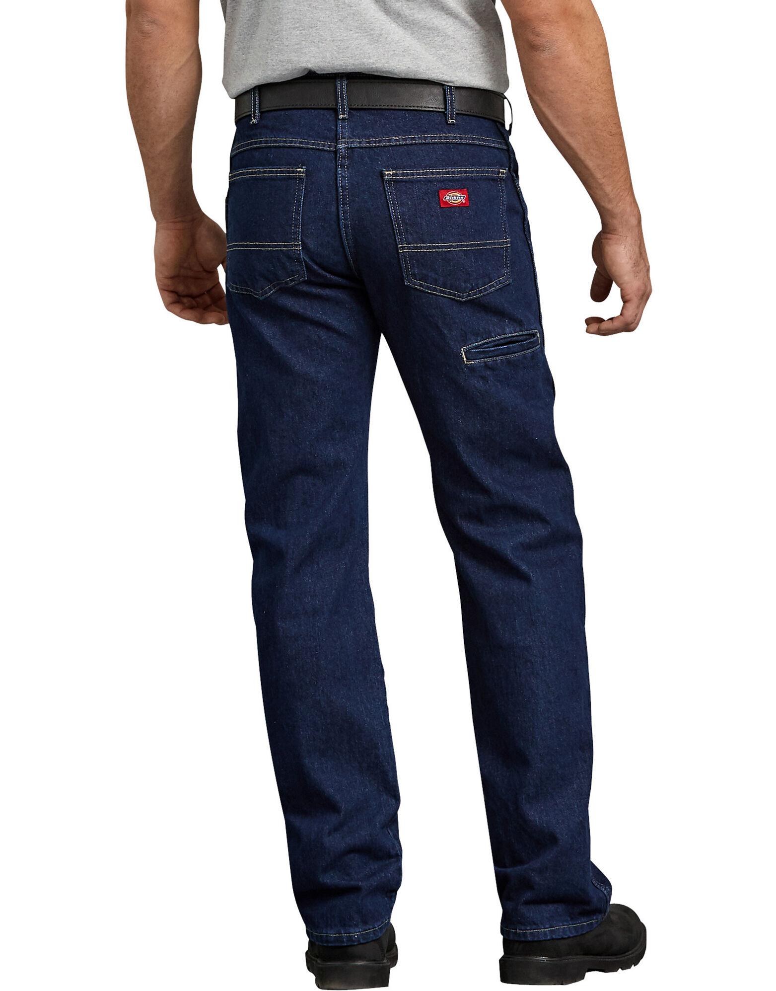 regular straight fit 6 pocket denim jean mens jeans dickies. Black Bedroom Furniture Sets. Home Design Ideas