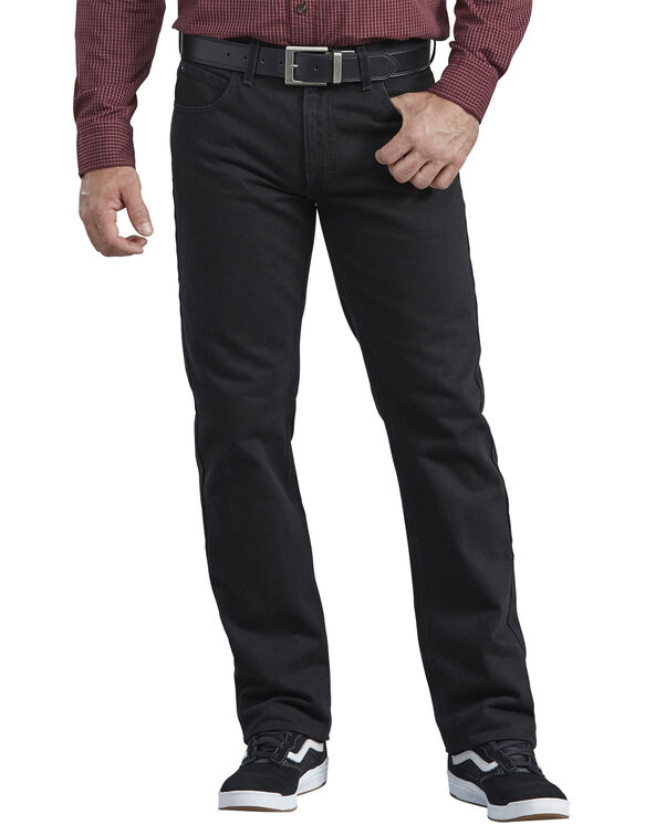 Dickies X-Series Regular Fit Straight Leg 5-Pocket Denim Jean - HERITAGE BLACK DENIM (HBL)