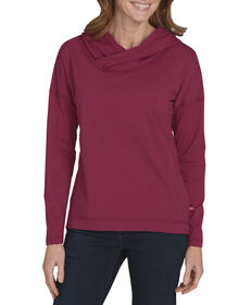 Womens' Long Sleeve Knit Hoodie - ANEMONE (NO1)