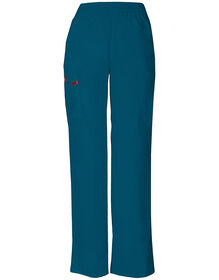 Women's Missy Fit EDS Pull-on Cargo Scrub Pant - CARIBBEAN-LICENSEE (CRB)