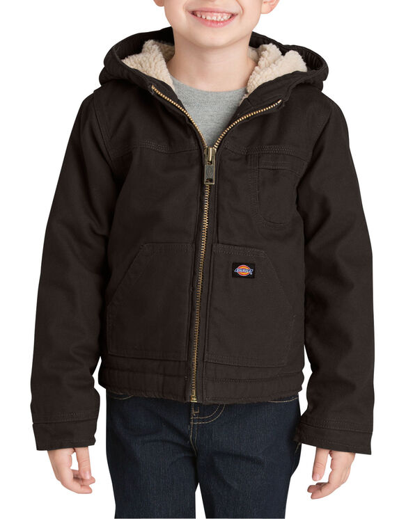 Boys' Sherpa Lined Duck Jacket, 4-7 - RINSED BLACK (RBK)