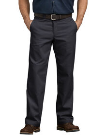 Flex Relaxed Fit Straight Leg Double Knee Work Pant - BLACK (BK)