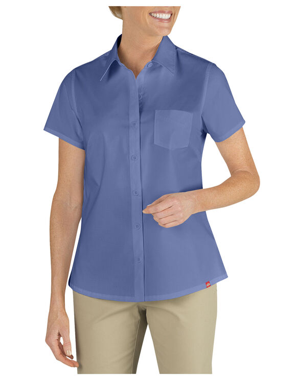 Women's Short Sleeve Stretch Shirt - FRENCH BLUE (FB)