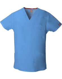 Men's EDS V-Neck Scrub Top - CEIL BLUE-LICENSEE (CBL)