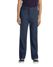 Girls' Classic Fit Straight Leg Stretch Twill Pant, 7-20 - DARK NAVY (DN)