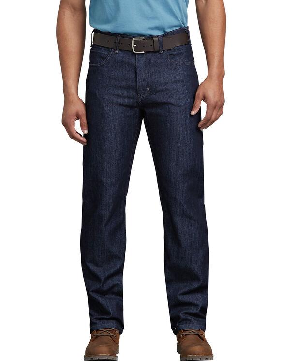 FLEX Regular Fit Straight Leg 5-Pocket Tough Max™ Denim Jean - RINSED INDIGO BLUE (RNB)