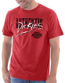 Dickies Splattery Graphic Short Sleeve Tee - HEATHER RED (HA)