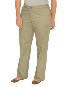 Women's Relaxed Fit Straight Leg Cargo Pant (Plus) - DESERT SAND (DS)