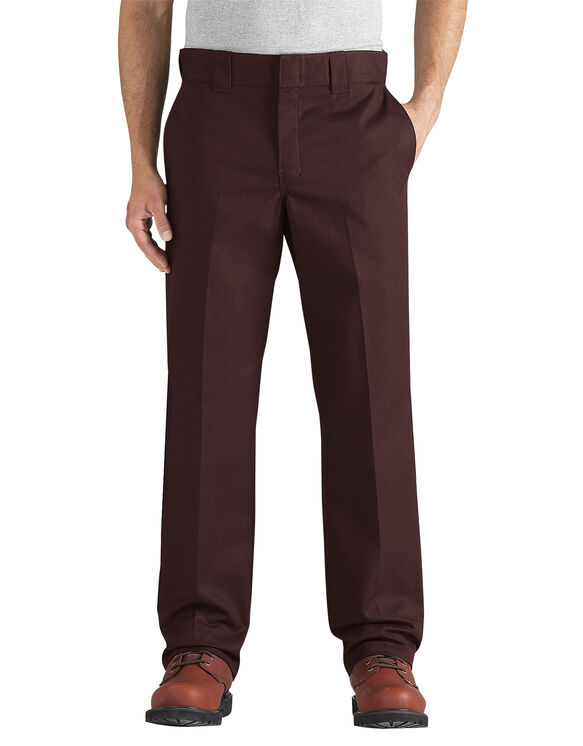 Flex Slim Fit Straight Leg Twill Work Pant - CHOCOLATE BROWN (CB)