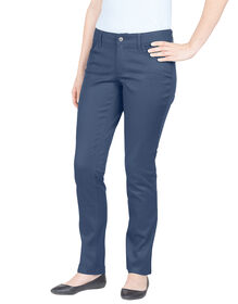 Dickies Girl Juniors Curvy Fit Skinny Leg 5-Pocket Pant - NAVY-LICENSEE (NVY)