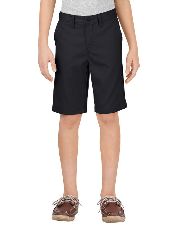 Boys' Flex Slim Fit Ultimate Khaki Short, 8-20 - BLACK (BK)